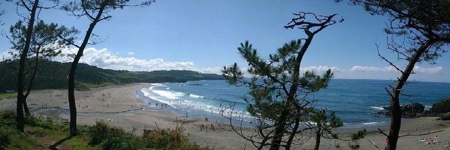 Playa de Frexulfe en Puerto Vega